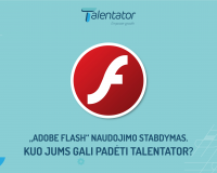 Flash Player stabdymas