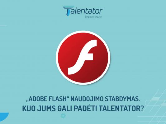 Flash Player stabdymas